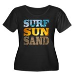 Surf, Sun, Sand Plus Size T-Shirt