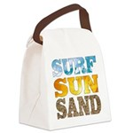 Surf, Sun, Sand Canvas Lunch Bag