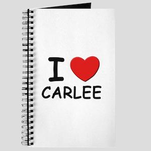 I love Carlee Journal