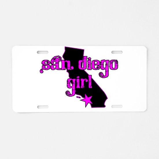 san diego girl shirt Aluminum License Plate