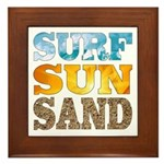 Surf, Sun, Sand Framed Tile