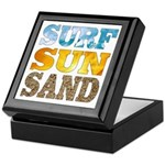 Surf, Sun, Sand Keepsake Box