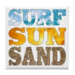 Surf, Sun, Sand Tile Coaster