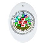 Medical Marijuana Ornament (Oval)