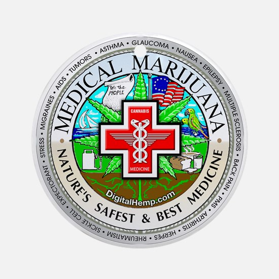 Medical Marijuana Ornament (Round)