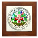 Medical Marijuana Framed Tile