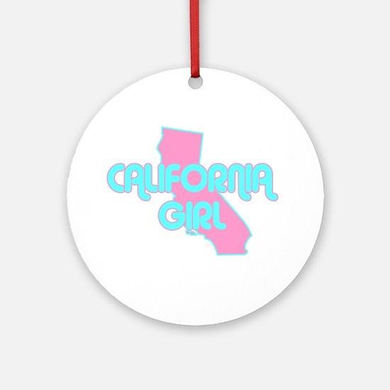 CALIFORNIA GIRL SHIRT Ornament (Round)