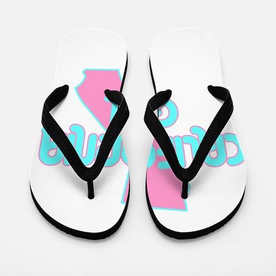 CALIFORNIA GIRL SHIRT Flip Flops