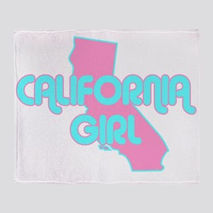 CALIFORNIA GIRL SHIRT Throw Blanket