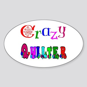 Crazy Quilter Oval Sticker