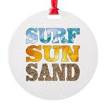Surf, Sun, Sand Ornament