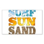 Surf, Sun, Sand Sticker