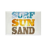 Surf, Sun, Sand Rectangle Magnet