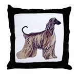 Afghan Silhouette Throw Pillow