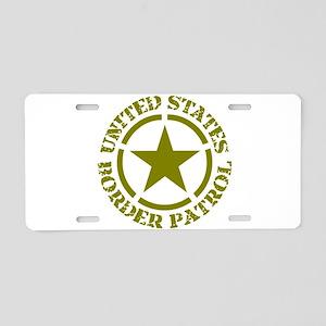 border-patrol Aluminum License Plate