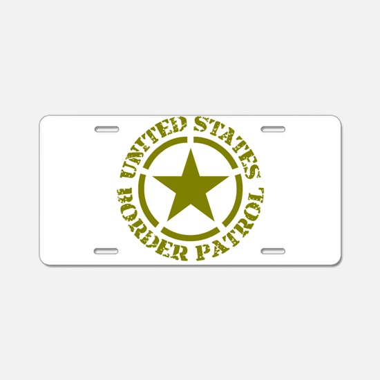 border-patrol Aluminum License Plate