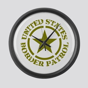border-patrol Large Wall Clock