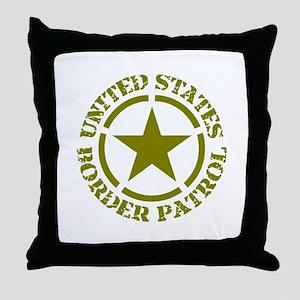 border-patrol Throw Pillow