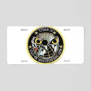 Titan IV Vandenberg Aluminum License Plate