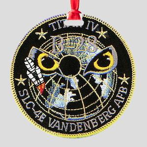 Titan IV Vandenberg Round Ornament