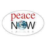Peace Now Oval Sticker