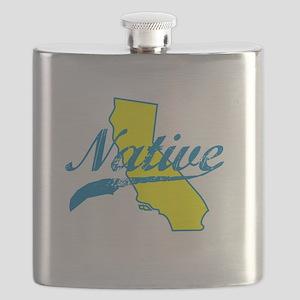 NATIVE CALIFORNIA SHIRT BUMPER STICKER TEE Flask