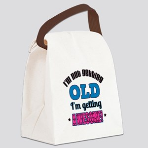 I'm Not Old I'm Awesome Canvas Lunch Bag