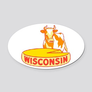 Vintage Wisconsin Cheese Oval Car Magnet