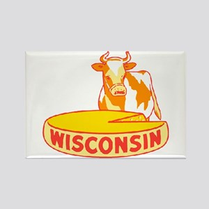 Vintage Wisconsin Cheese Rectangle Magnet