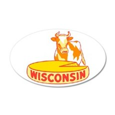 Vintage Wisconsin Cheese Wall Decal