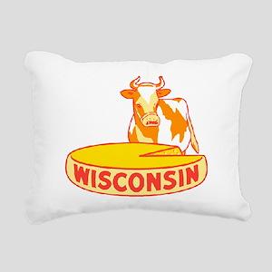 Vintage Wisconsin Cheese Rectangular Canvas Pillow