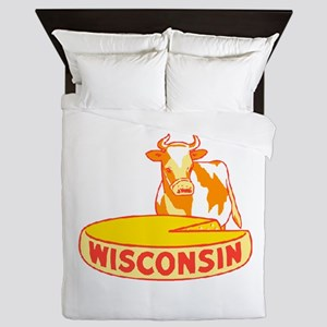 Vintage Wisconsin Cheese Queen Duvet