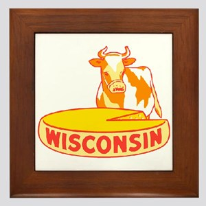 Vintage Wisconsin Cheese Framed Tile