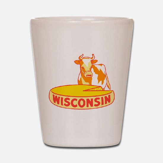 Vintage Wisconsin Cheese Shot Glass
