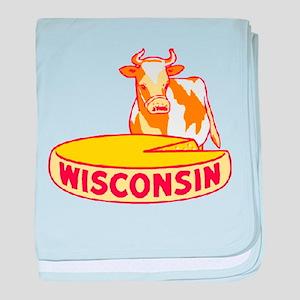 Vintage Wisconsin Cheese baby blanket