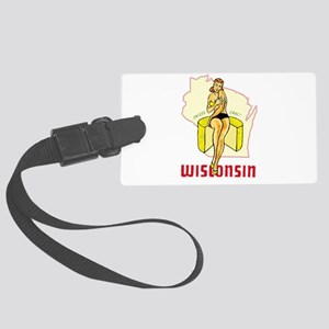 Vintage Wisconsin Pinup Luggage Tag