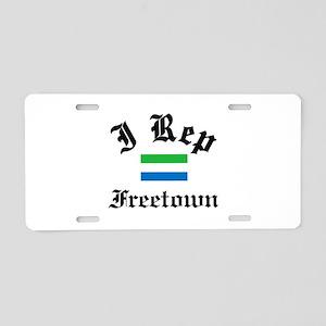 I rep Freetown Aluminum License Plate
