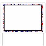 Red White Blue Frame Yard Sign