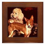 Vintage Basenji Framed Tile