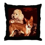 Vintage Basenji Throw Pillow