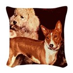 Vintage Basenji Woven Throw Pillow