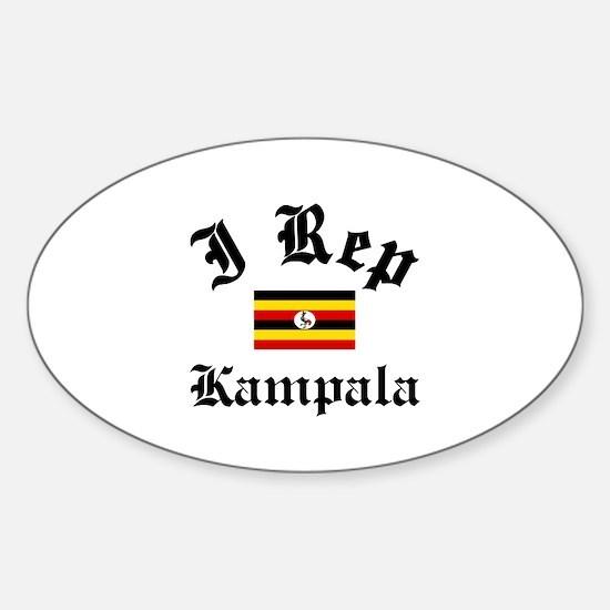 I rep Kampala Sticker (Oval)