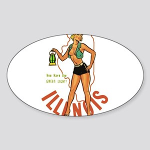 Illinois Pinup Sticker
