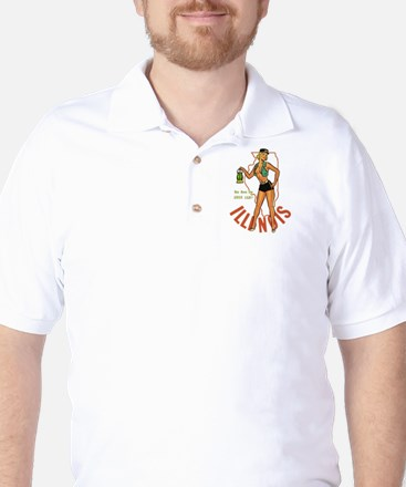 Illinois Pinup Golf Shirt