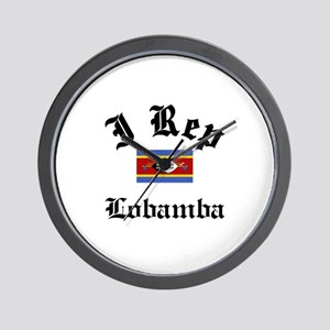 I rep Lobamba Wall Clock