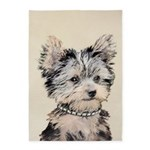 Yorkshire Terrier Puppy 5'x7'Area Rug