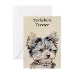 Yorkshire Terrier Puppy Greeting Card