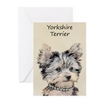 Yorkshire Terrier Puppy Greeting Cards (Pk of 10)
