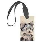 Yorkshire Terrier Puppy Large Luggage Tag