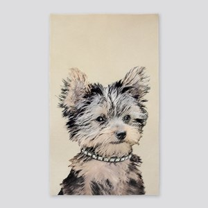 Yorkshire Terrier Puppy Area Rug